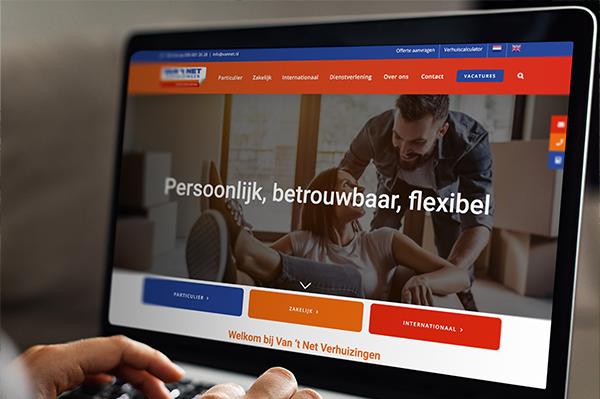 Nieuwe website | Van 't Net Verhuizingen